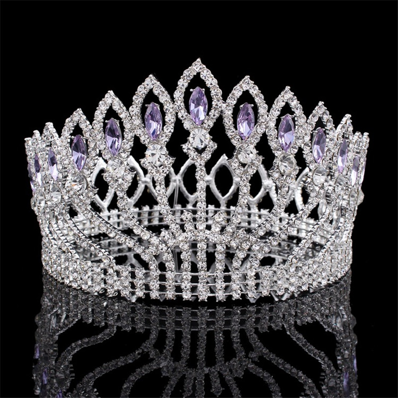 Luxurious Sparkling Crystal Baroque Queen King Wedding Tiara Crown Pageant Prom Diadem Headpiece Bridal Hair Jewelry accessories цена
