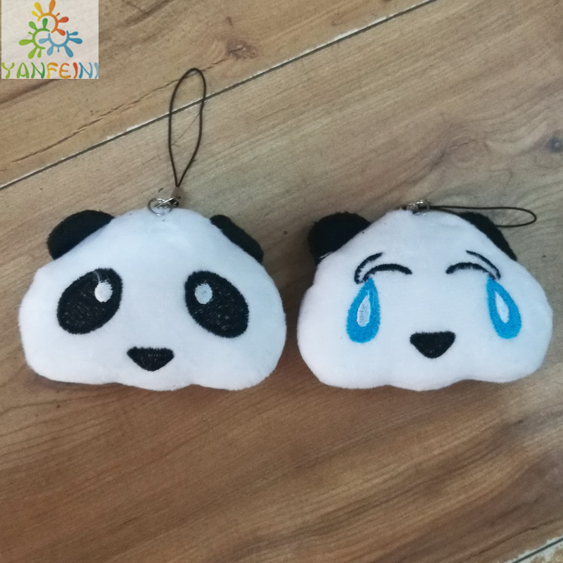 40 шт. улыбка плюшевая панда куклы плачет panada выражение кенгуру кулон подарок на день рождения knuffels кукла