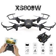 Visuo XS809W XS809HW Mini Foldable Selfie Drone with Wifi FPV 0 3MP or 2MP Camera Altitude