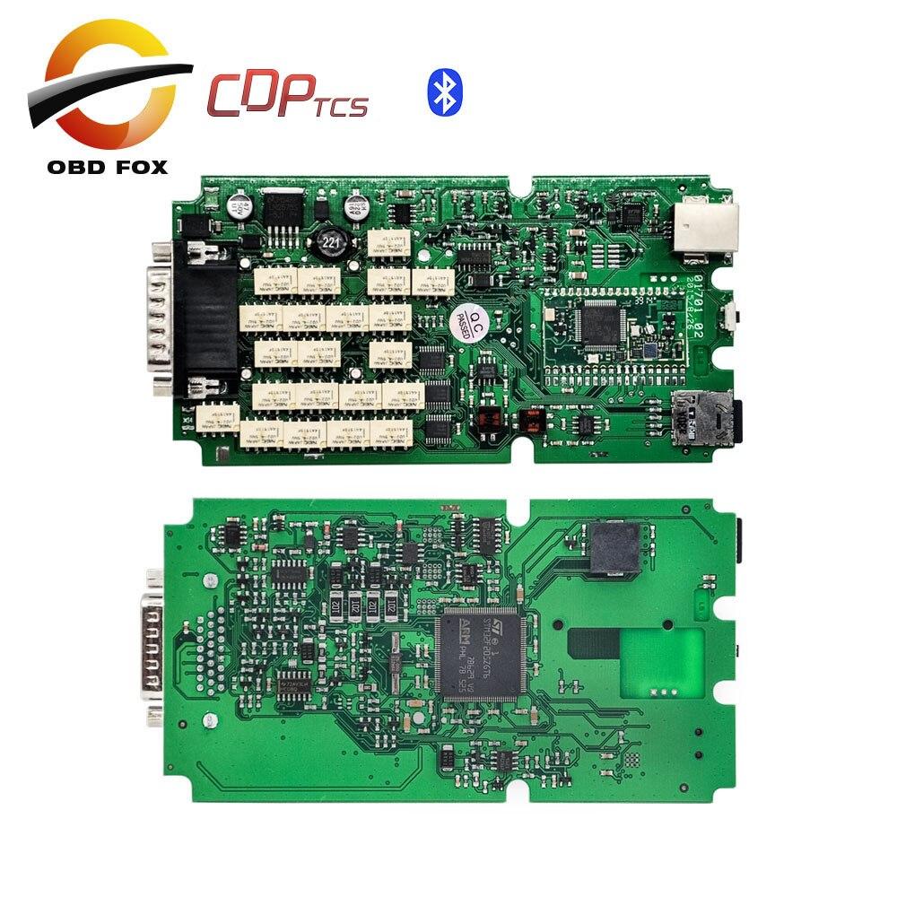 Prix pour Unique Vert PCB nouveau vci CDP tcs Avec bluetooth 2015R3 Keygen dans cdp suer pro plus obd2 outil de diagnostic pour voiture camion DHL livraison