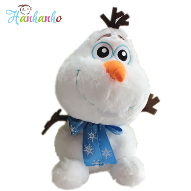 Long Plush Original Snowman Olaf Plush Toy Cute Movie Doll Children Gift High Quality Stuffed Toys Brinquedos for Kids Baby 35cm 11 8 plush toy stuffed toy super quality goofy dog baby toy soft doll goofy toy lovey cute doll gift for children