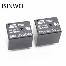 5Pins RELAY 12V for DC Coil Power Relays PCB 20A SRA-12VDC-CL Wholesale Price