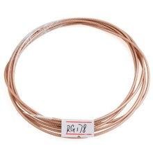 Diy linha de cabo de extensão de antena do transmissor rf coaxial rg178 10 pés