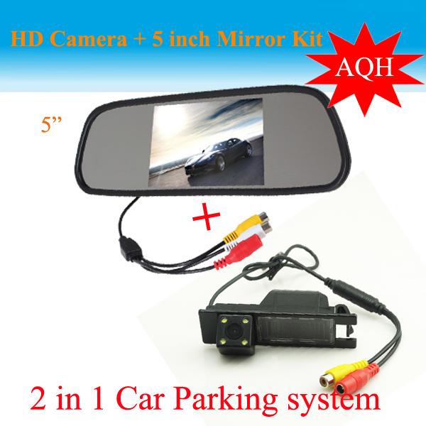 """2 in1 estacionamiento de la cámara 5 """" monitor del espejo + HD del CCD de visión trasera aparcamiento cámara para Opel Vauxhall Vectra Astra Zafira Vivaro"""