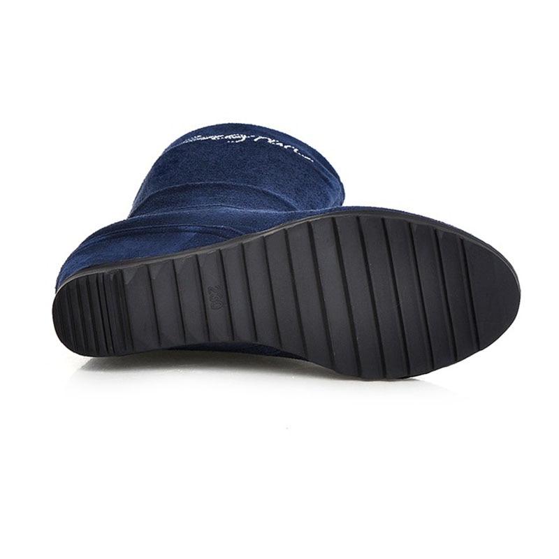 Botas Calzado Rizabina 43 negro Colores Las Mujeres Beige marrón azul rojo Medias Tamaño De 5 Zapatos Invierno 34 Felpa Femenino xwrOSwYq