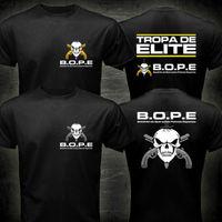 BOPE Tropa De Elite Brazylia Specjalne Elite Siły Wojskowe T shirt men dwie strony wojskowy Casual tee USA rozmiar S-3XL