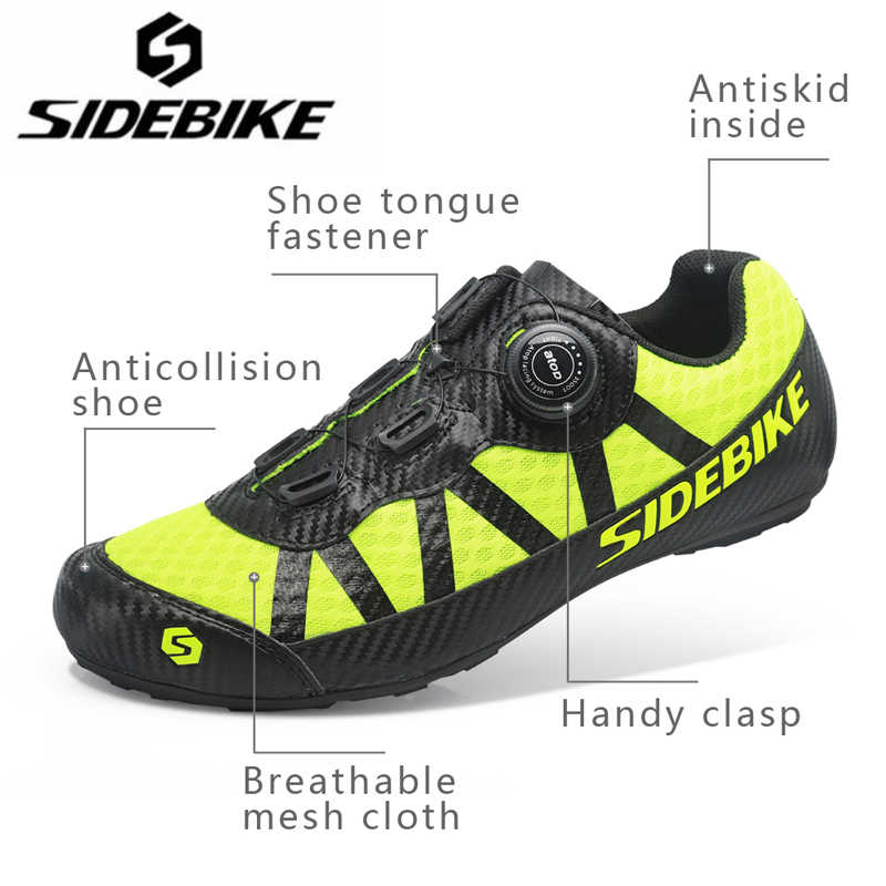 284cdd399dc ... SIDEBIKE 2018 New Cycling Shoes Road Sneaker Outdoor Professional Road  Shoes Bicycle Shoes Non-Slip ...