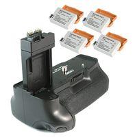 סוללה גריפ BG E8 עבור Canon EOS 550D + 4 LP E8 LPE8 סוללה|grip grip|grip for canongrip canon -