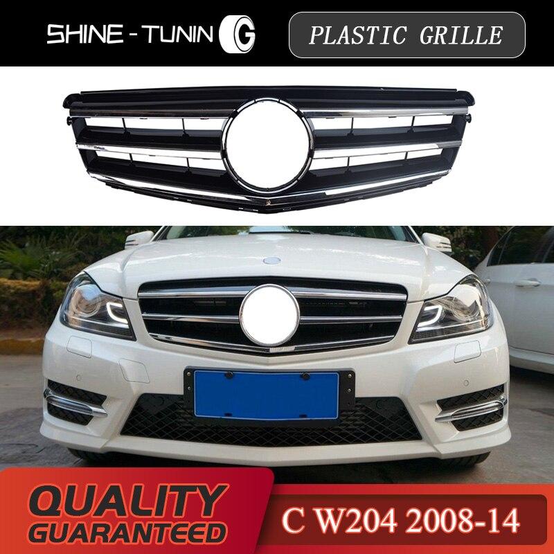 ABS Paraurti anteriore Griglia Mesh Styling Adatto per W204 Classe C 2008-2014 Yctze Griglia