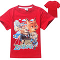 wholesale 5 pieces/lot The new summer 2016 zootopia crazy animal city cuhk children's children T-shirt with short sleeves