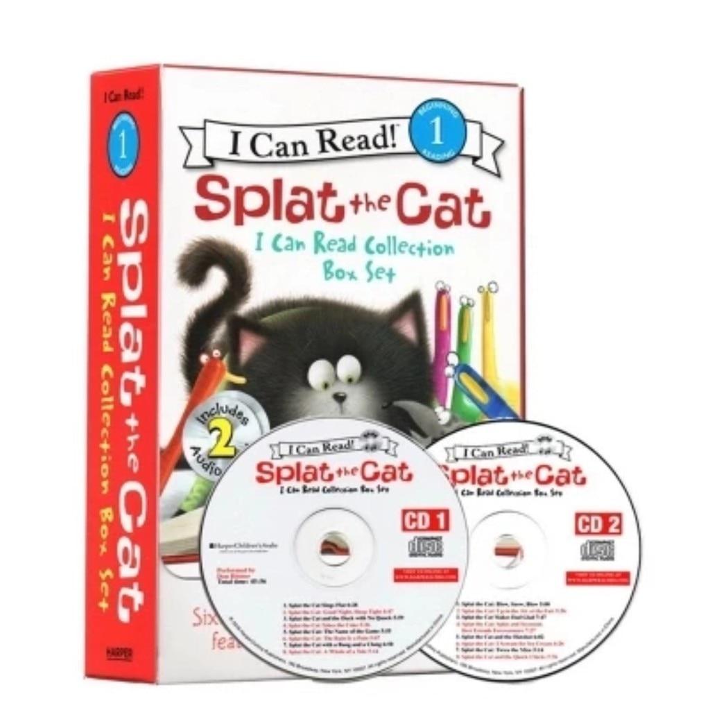 16 livres + 2 CD AUDIO je peux lire! SPLAT le chat coloriage livres pour enfants enfants anglais histoire livre ensemble début Educaction lecture