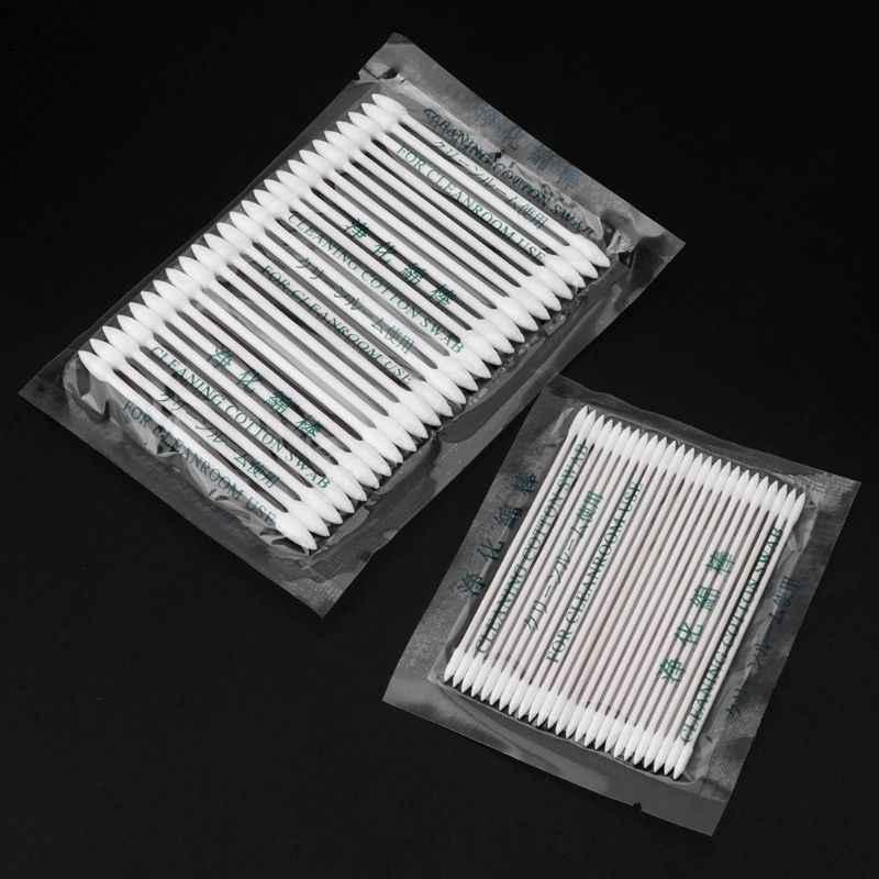 Herramienta de limpieza desechable de algodón de 25 uds para auriculares airpods Smart Phone Tablet puerto de carga USB