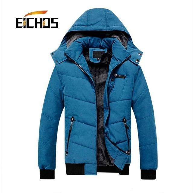 2015 Novos homens de Moda Jaqueta Casaco de Inverno Quente Fino Casaco Acolchoado dos homens Casuais Jaqueta Masculina Homens Jaqueta de Neve Roupas de Inverno para