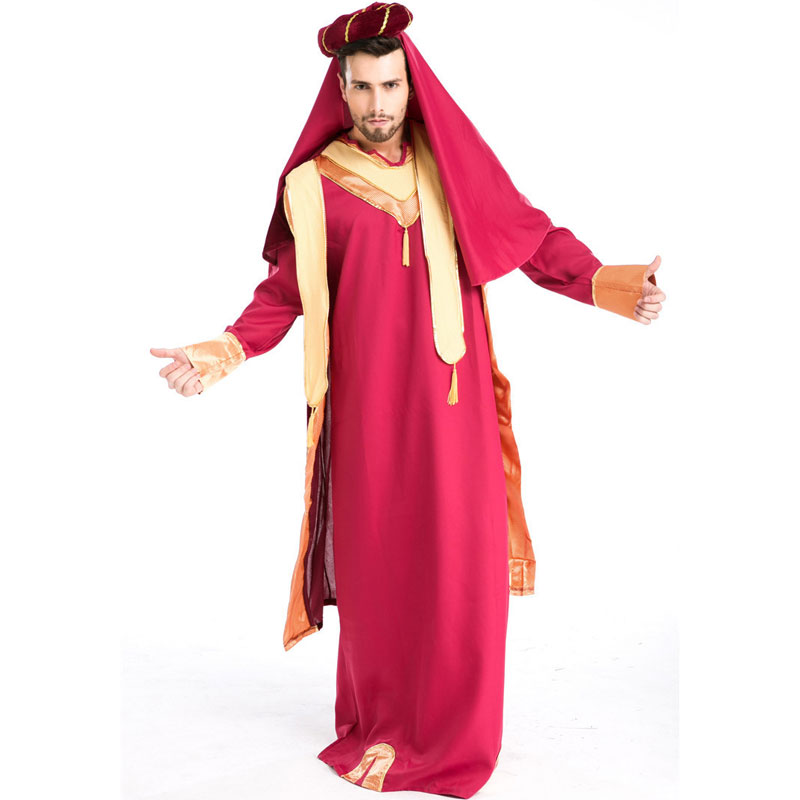 Halloween Costumes Adult Mens Aladdin Lamp Priest Greece Costume Fancy Cosplay Clothing for Men