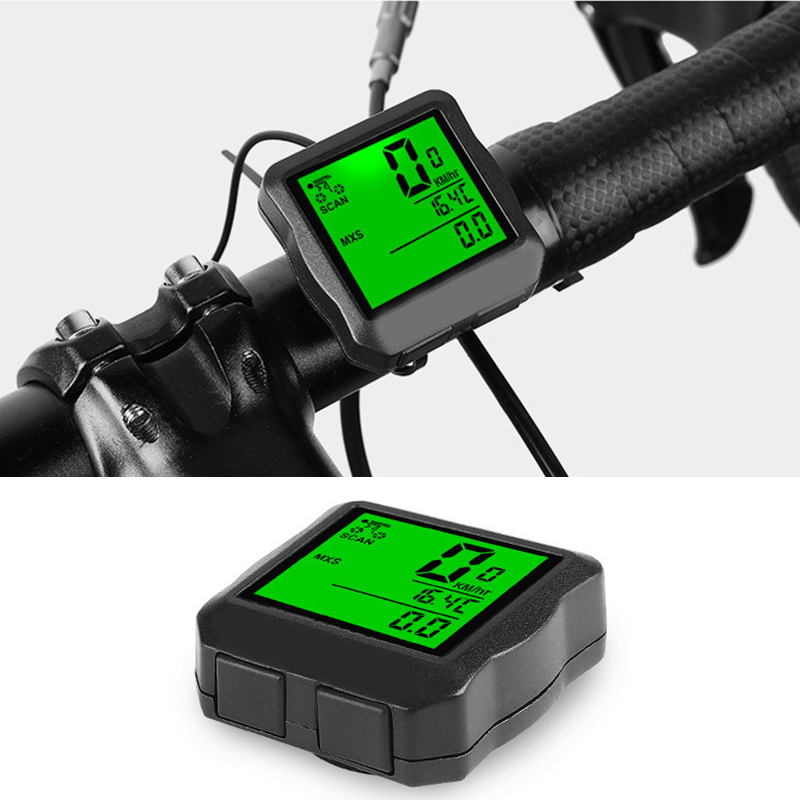 Bike Computer for Cycling Riding White 1 Pcs Waterproof Bicycle Wired Speedometer Lightweight MPH Motorcycle Trip Odometer for Travelling Cycling Computers