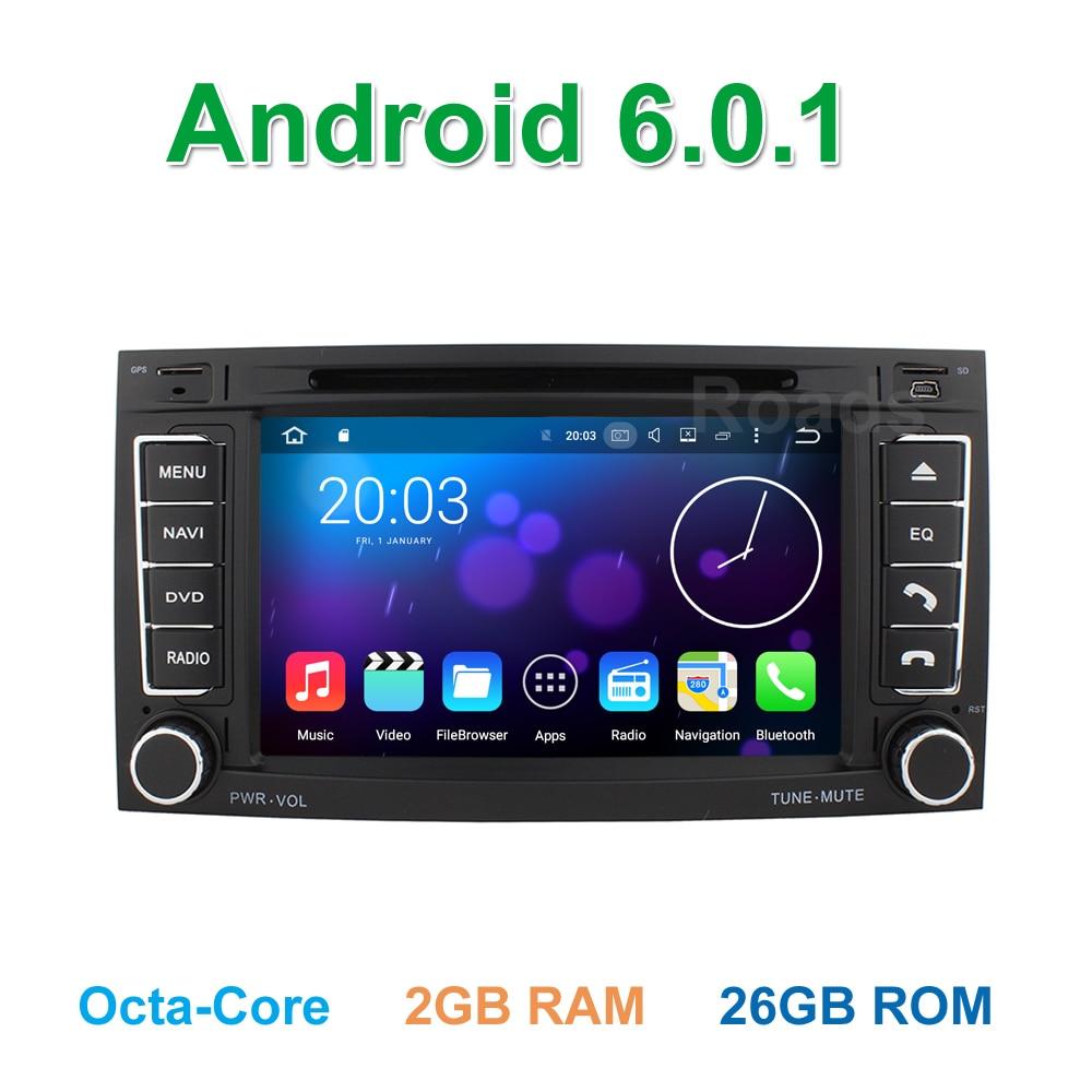 imágenes para Octa core android 6.0 coche dvd gps de radio para volkswagen vw touareg multivan t5 transporter con wifi bluetooth 2 gb de ram
