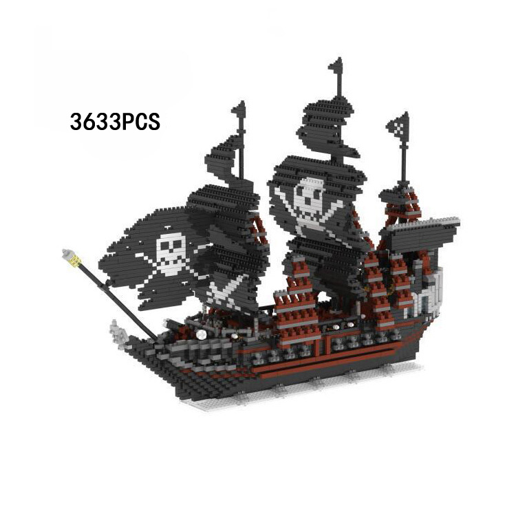 Movie Caribbean Pirates micro diamond building block Black Pearl ship nanoblock assemable model bricks toys collection for gifts creator hot world famous city funland micro diamond building block castle nanoblock assemble model bricks toys collection gifts