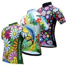 Womens Cycling Jersey Bike Team Pro Ropa Ciclismo MTB Bicycle Clothing Summer Shirt