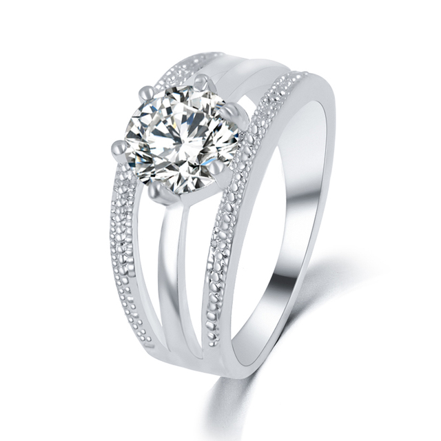 Austrian Crystal Multi Layer Engagement Ring