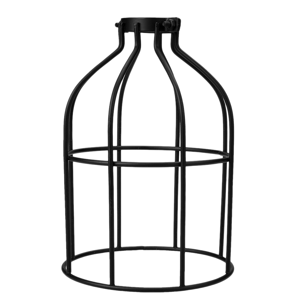 Lamp Covers & Shades Liberal 1pcs Black Creative Simple Chandliter Lamp Shades Iron Birdcage Design Decorative Lamp Accessory Cover For Home Hotel Restaurant Removing Obstruction