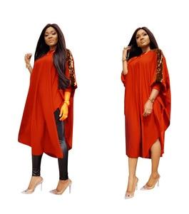 Image 5 - Dashikiアフリカ女性のための3XLプラスサイズドレスレディーススパンコール青赤伝統的なアフリカの服妖精夢