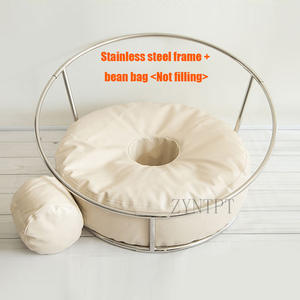 Newborn Photography Props Posing Donut Bean Bag Backdrop Stand For Baby Photoshoot Beanbag