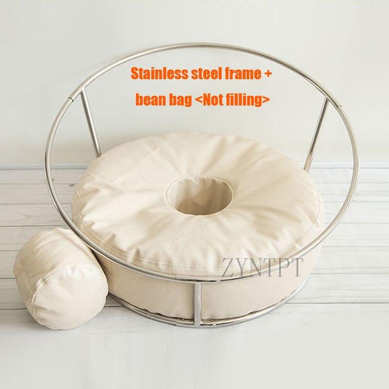 Nouveau-né photographie accessoires posant beignet haricot sac toile de fond support pour bébé Photoshoot pouf Fotografia Photo Shoot accessoires
