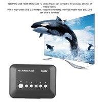 1Sets HDMI Media Player Box 1080P TV Videos SD MMC RMVB MP3 HD USB Multi TV Media Videos Player Box New High Quality
