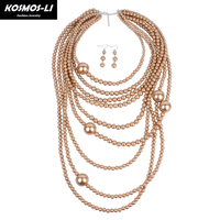 New Fashion Statement Necklace Jewelry Acrylic Beads Chokers For Women 14356
