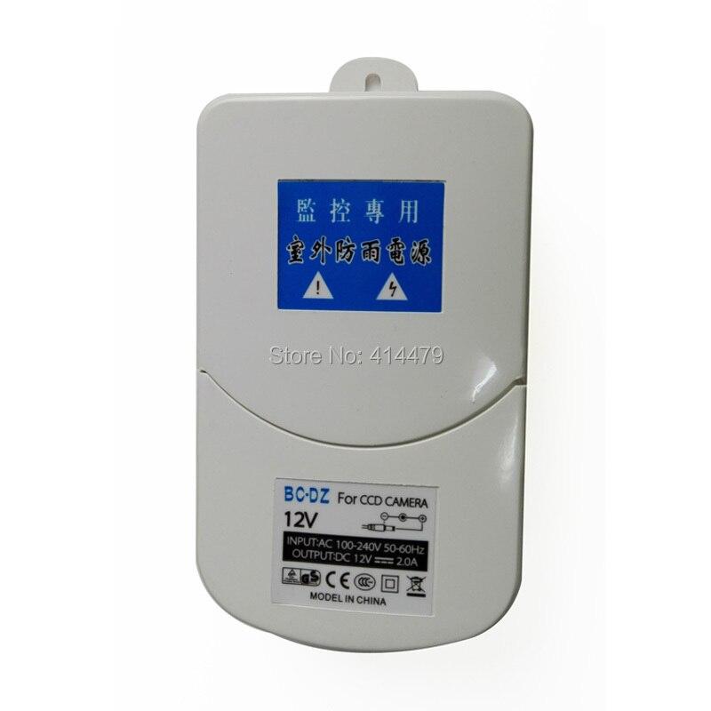 في الهواء الطلق 12 فولت 2A التبديل محول الطاقة التيار المتناوب 100 فولت إلى 240 فولت العرض مع غطاء غير نافذ للمطر ل AHD TVI الأمن كاميرا مسجل دي في أر-في أجزاء CCTV من الأمن والحماية على title=