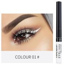 1 шт., Матовая жидкая подводка для глаз, карандаш для макияжа, стойкий, быстросохнущий, блестящий карандаш для глаз, белая подводка для глаз, золотой пигмент, косметика TSLM1