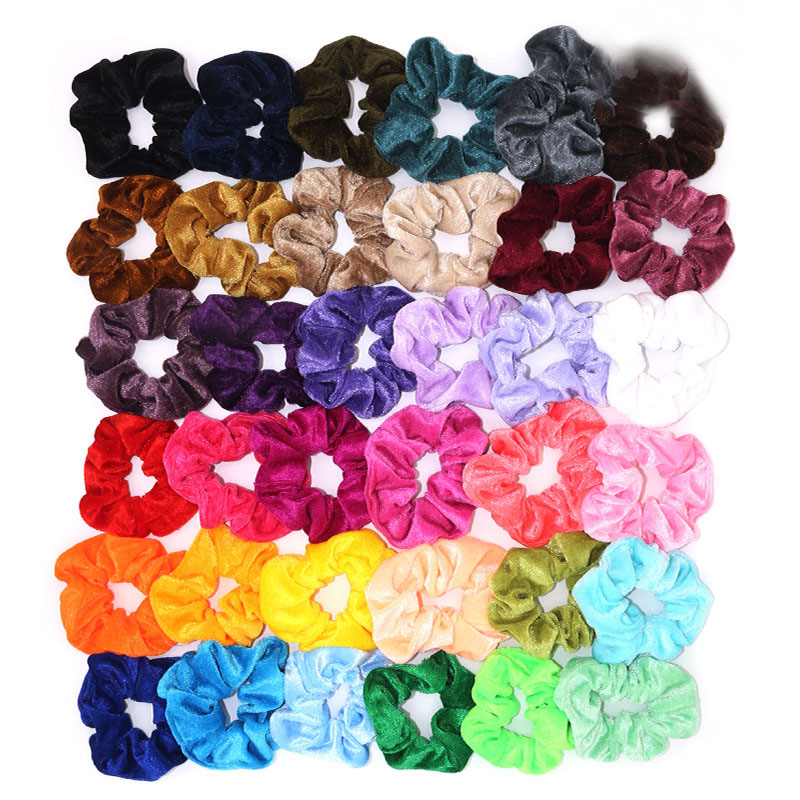 36 Colors Velvet Scrunchie Women Girls Elastic Hair Rubber Bands Accessories Tie Hair Ring Rope Ponytail Holder Gumki Do Wlosow