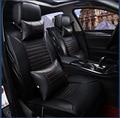 Negro / gris / rojo de cuero de la marca amortiguador del coche de la cubierta delantera y trasera conjunto completo para audi A1 A3 A4 A5 A6 A8 Q1 Q5 Q3 qQ7 cubierta de asiento de coche
