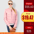 Winter Spring Jackets Coats For Women Breathable Ultralight Outwear Clothing Solid Female Zipper <font><b>Parkas</b></font> Short Down Jacket Ladies