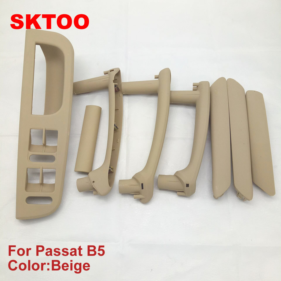 SKTOO SET Beige car interior door handle armrest and window switch Panel FOR VW Volkswagen passat B5