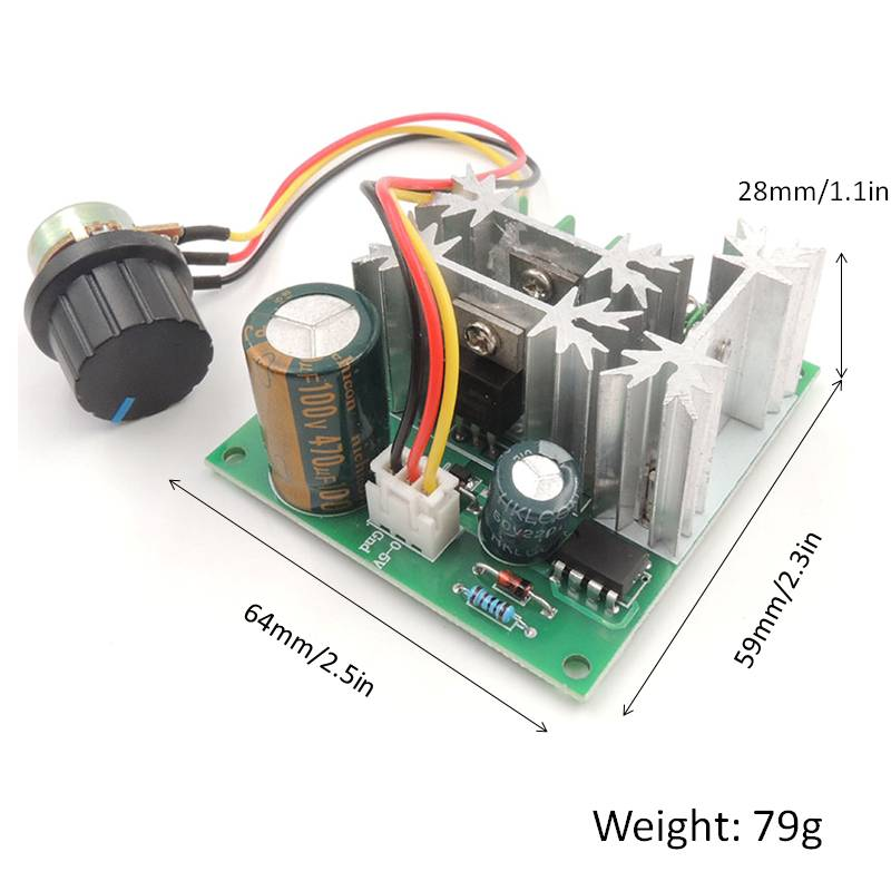 Voltage Regulator 1000W DC 6V 90V Dimmer Electric Motor Speed Controller Electronic Volt Continuously Variable Transformer in AC DC Adapters from Consumer Electronics