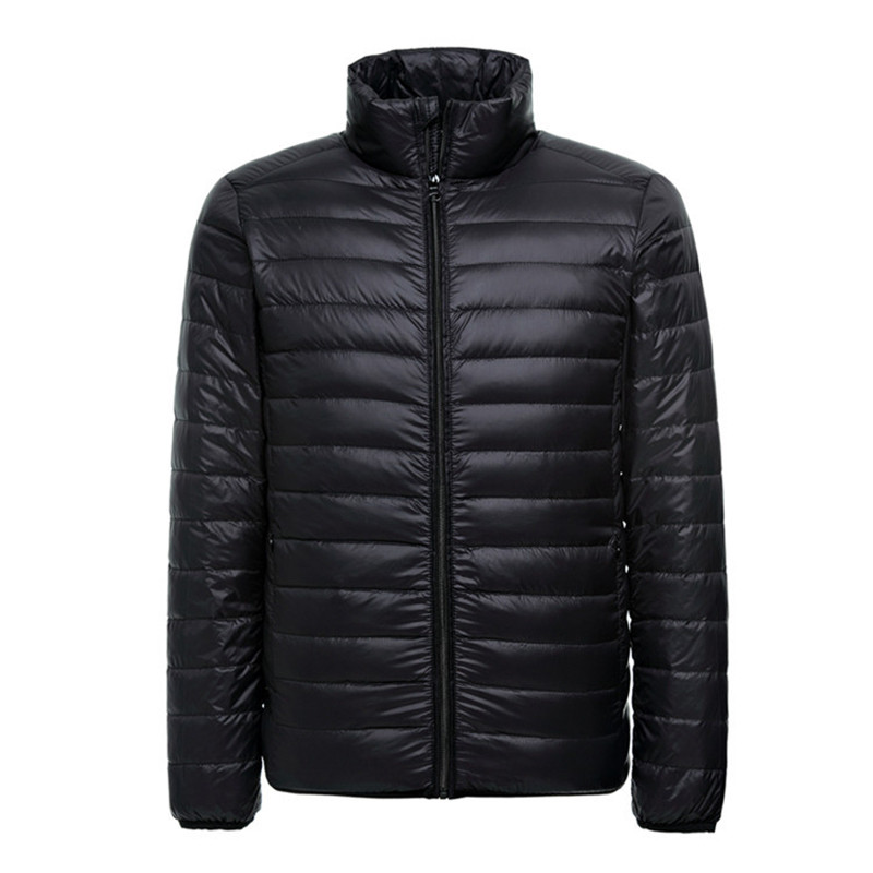 2018 New Lightweight Down Jacket For Men Thin Ultra Light Windproof White Duck Puffer Coat Male Outwear Packable Jackets Coats