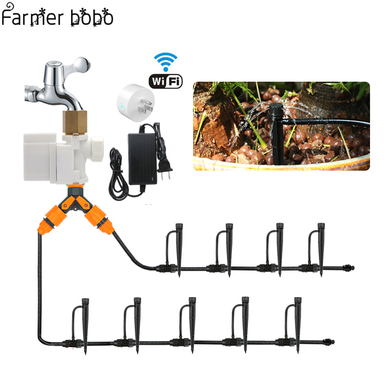 WIFI Garden Watering System Drip Irrigation Mobile Phone Control Garden Automatic Watering Timer AutoplayWIFI Garden Watering System Drip Irrigation Mobile Phone Control Garden Automatic Watering Timer Autoplay