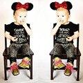 LZH Новорожденный Мальчики Девочки Одежда Набор Письмо Ситца футболка + Брюки 2 шт. Наряд Костюм Дети Ребенок Костюм Младенческой одежда
