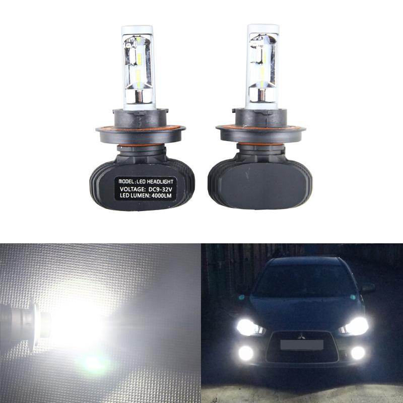 Car Lights Jxlclyl 2pcs 9007 Hb5 Cob Led Car Headlight Head Lamp Fog Light Bulb Kit Cool White