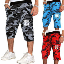 Zogaa Men's Jogging Fitness shorts blue red Camouflage Sport Shorts Sweatpants Running Training youth 2018 Summer men Gym Shorts(China)