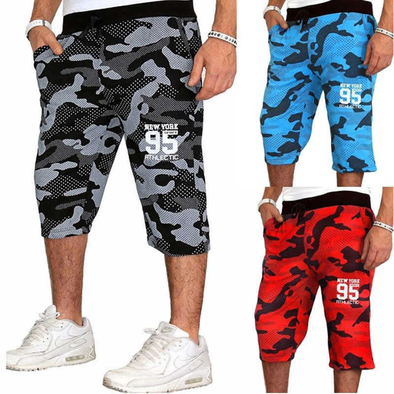 Zogaa Men's Jogging Fitness shorts blue red Camouflage Sport Shorts Sweatpants Running Training youth 2018 Summer men Gym Shorts