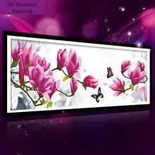 99*37 cm 5D diamant malerei magnolia blume DMC 447 farbe diamant stickerei fühlte diy diamant mosaik für zuhause dekoration DP140