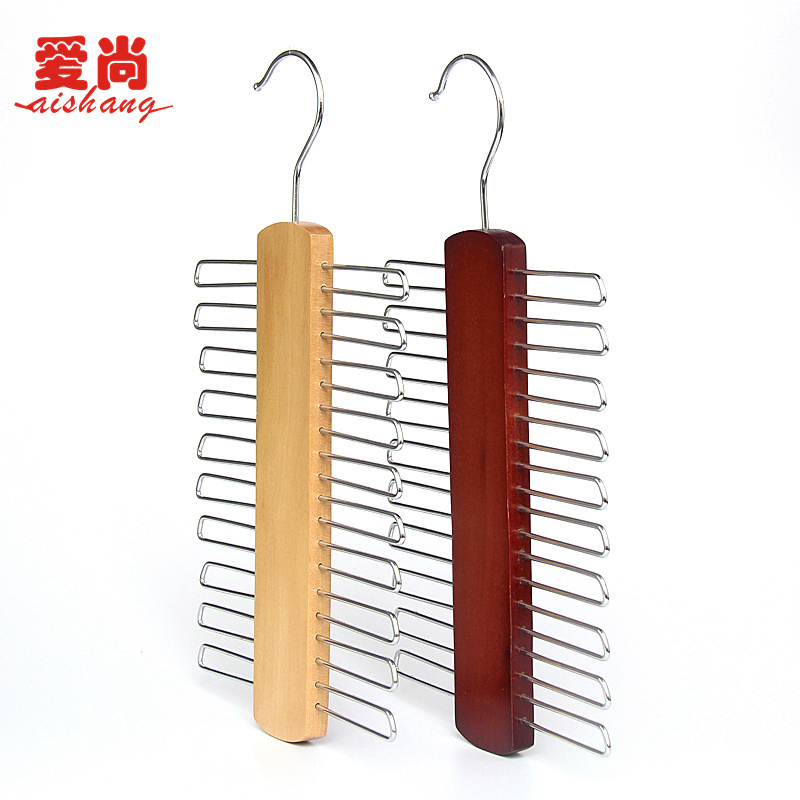 hot sell top quality nonslip necktie belts tie hanger rack shawl scarf closet wooden holder organizer