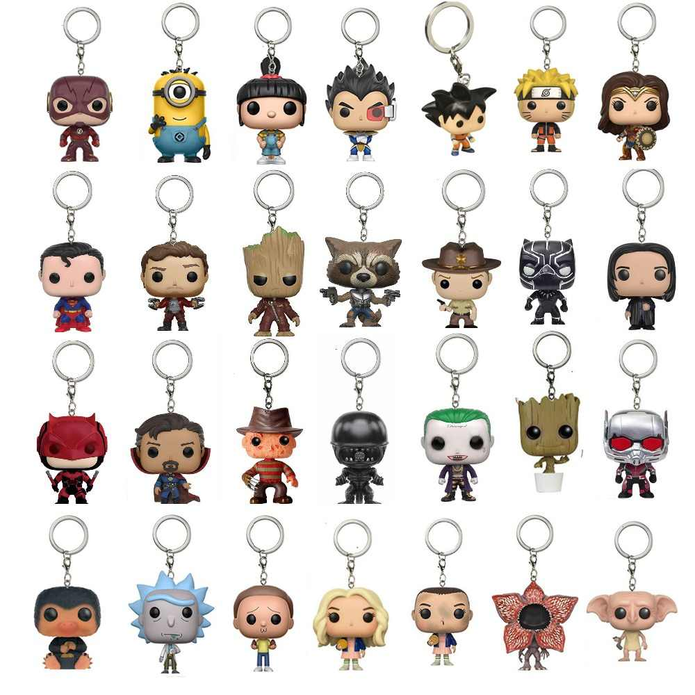 Marvel Avengers 3 Infinity War Doctor แปลกสีดำ Panther Keychain ของเล่น Galaxy Of Guardians เด็ก Grut Naruto Dragon Ball ของเล่น