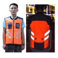 Sleeveless reflective motor jacket for night safety Free shipping