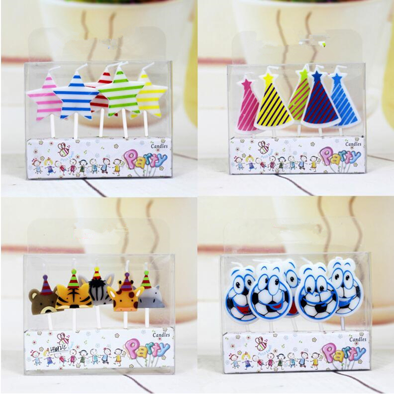 5 Pcs Set Cartoon Kids Birthday Cake Cupcake Toppers Candle Candles Party Supplies Wedding Home Decorations B In From Garden