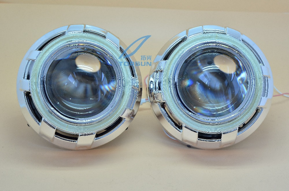 Здесь можно купить  GZTOPHID 3 inch  Q5 Bifocal Projector Lens With Cover And COB Angel Eyes Headlight Model For D1S D2S D3S D4S Free Shipping  Автомобили и Мотоциклы