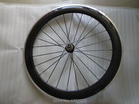 1pcs New 700C 60mm Clincher Rim Track Fixed Gear Road Bike Carbon Bicycle Wheelset With Alloy