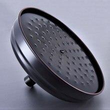 Black Brass Round 8 Inches Rain Shower Head Water Saving Top Spray Rainfall Shower Heads Oil Rubbed Bronze Bsh249 цена
